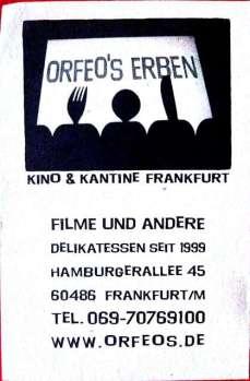 Tolles Restaurant, originelles Kino und ganz gute Bar in Frankfurt